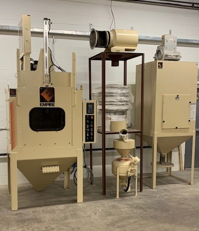 Our new Empire Shot Peening machine!